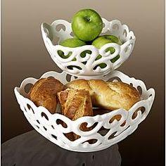 """Tabletops Gallery Set of 2 8.25"""" Square Bowls Serving Basket"""