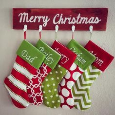 Stocking Holder With 3 hooks  Christmas Stocking by BrandNewToMe