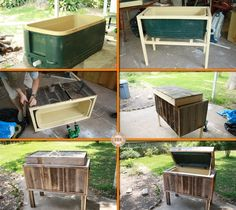 Here's a great addition for your outdoor space, especially for those who love to entertain! Learn how to make this DIY rustic cooler by viewing the full album at http://theownerbuildernetwork.co/n3g2 Would like to have this in your outdoor space?