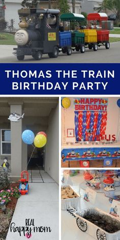 Check out this Thomas the Train theme birthday party.  Find ideas for decorations cake and food for the ultimate train birthday party.