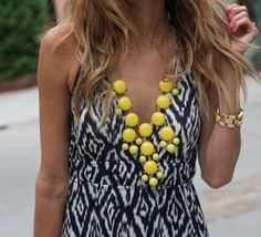 black & white + pop of yellow