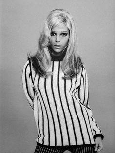 Nancy Sinatra in stripes