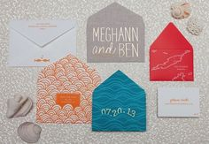 amy likes the Megan and Ben in metallic on the envelope