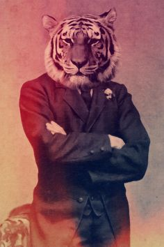 Real Men Dont LOL Old Timey Tiger Poster