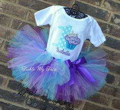 "Cupcake Princess ""Isabella"" Birthday Tutu Outfit...www.ticklemytutu.com"