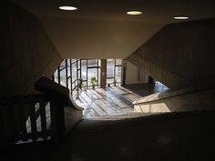 Interior of the Kagawa Prefecture Gymnasium by Tange Kenzo, 1964 #Tange #architecture #modernism #Kagawa