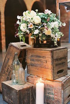Romantic Barn Wedding Decorations ❤ See more: http://www.weddingforward.com/barn-wedding-decorations/ #weddings