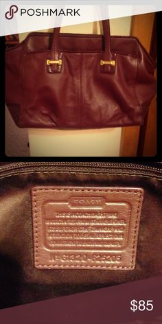 Leather Coach Bag Leather Coach Bag. Eggplant/plum colored with gold hardware. Great condition! Very versatile bag! Coach Bags