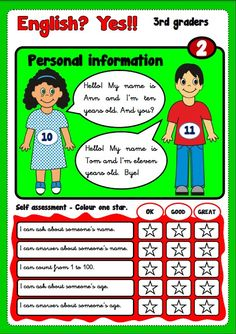 ENGLISH, YES! UNIT 2 - TALKING ABOUT PERSONAL INFORMATION http://eslchallenge.weebly.com/