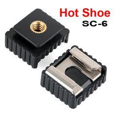 Best Wholesale SC 6 Hot shoe Adapter for flash Speedlite Standard Mount Photo Studio Accessories Mount Adapter. Click visit to read descriptions