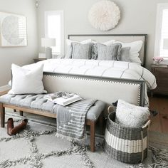 Ideas For Bedroom Inspo Small Guest Rooms Bedroom Inspo Grey, Gray Bedroom, Trendy Bedroom, Home Bedroom, Master Bedroom, Bedroom Decor, Bedroom Ideas Master On A Budget, Master Suite, Master Bath