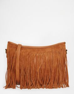 Bag by Pimkie Faux leather outer Fringe detail Shoulder strap Zip fastening Lined main compartment Inner zip pouch Do not wash Textile H: W: D: Textiles, Plus Size Fashion, Cool Style, Latest Trends, Crossbody Bag, Stylish, Asos Uk, Leather, Bags