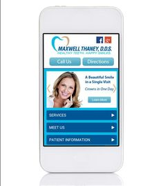 Another mobile website up and running for a local dentist. This kind of website can increase your new patient flow as much as 26% in the first year.