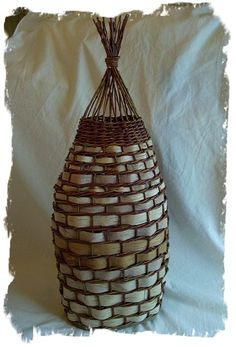 Willow and birch bark basket - The Wicker Woman