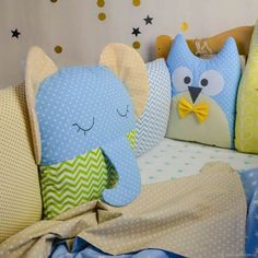 Amazing Home Sewing Crafts Ideas. Incredible Home Sewing Crafts Ideas. Sewing Toys, Baby Sewing, Sewing Crafts, Sewing Projects, Baby Pillows, Kids Pillows, Animal Pillows, Sewing Stuffed Animals, Stuffed Animal Patterns