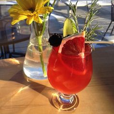 """Come in tonight and try our Cardinal Cup with house made """"Bramble Pimms"""" gin lemon and ginger beer."""