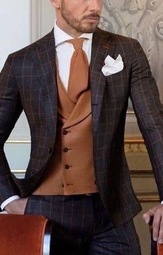 Wedding Suits men suits prom -- CLICK VISIT link above for more info Sharp Dressed Man, Well Dressed Men, Mens Fashion Suits, Mens Suits, Dapper Suits, Men's Fashion, Suit Men, Costume Marron, Dandy Look