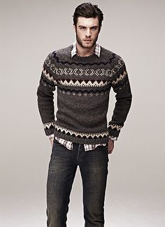 Pattern sweater for fall