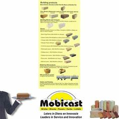 Mobicast ( Bricks, Blocks, Pavers and Kerbs ) also supplies various building materials that can be purchased at the George factory for delivery in the George area. #build #mobicast