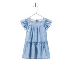 DRESS WITH WIDE RUFFLES - Last sizes - Baby girl - Kids | ZARA United States  Andrea likes this dress.