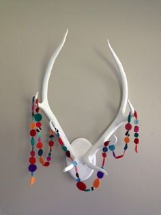 antlers with garland at made_by_rae on instagram!
