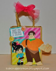 Tx Scrapper Mom - Wreck it Ralph gift bag, SVG Cutting Files Video Gamer Hop, Jaded Blossom Sassy Pants