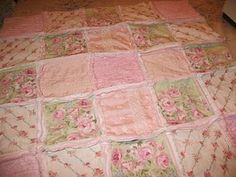Shabby chic rag quilt...i want to make one like this!!
