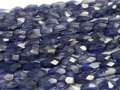 Iolite Beads  Iolite Faceted Bicone Beads   by gemsforjewels