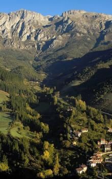 Picos de Europa in Northern Spain and the town of Potes