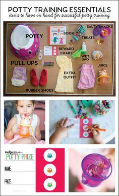 Potty Training Essentials - items to have on hand for successful potty training Pull-Ups spon. Potty Training Rewards, Toddler Potty Training, Training Tips, Toilet Training, Wet Bag, Diy For Girls, Baby Feeding, Kids Learning, Essentials