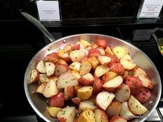 Rosemary potatoes at Centurion Lounge at SFO