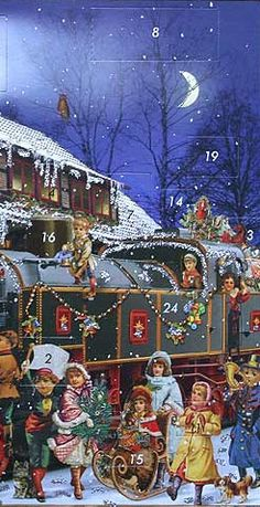 Christmas train advent calendar ~ Germany