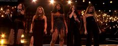 Women in music Billboard Fifth Harmony performing Like I'm gonna lose you by Meghan Trainor