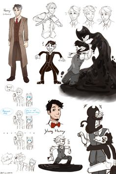 [Bendy and the ink machine] Henry's Doodles by SKY-Lia