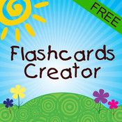 Free app for making flashcards with color pictures/photos and recordable voice! Can use your own photos!