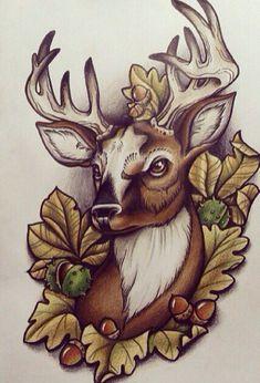 #art #artwork #artpainting #arttattoo #artphotography #sketch #sketchtattoo #tattoos #tattoosforwomen #tattoosformen #tattoodesigns #tattooideas #women #men #flowers Animal Sketches, Animal Drawings, Art Drawings, Traditional Tattoo Deer, Tattoo Sketches, Art Sketches, Cervo Tattoo, Hirsch Tattoo, Wildlife Tattoo