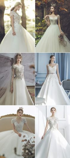 c886f772e3a8 30 Wedding Dresses Featuring a Contemporary Take on Princess Ball Gowns!