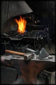 A blacksmith forge of his own. :)