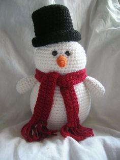 Steve the Snowman Amigurumi Crochet Plush PATTERN by daveydreamer Christmas Toys, Christmas Knitting, Christmas Snowman, Crochet Christmas, Christmas Presents, Christmas Holiday, Xmas, Holiday Crochet Patterns, Crotchet Patterns