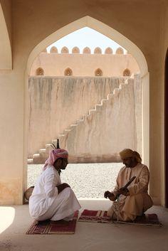 Local #Oman craftwork in the Dibba Castle, Musandam Peninsula.   - Photograph by Cat Vinton-