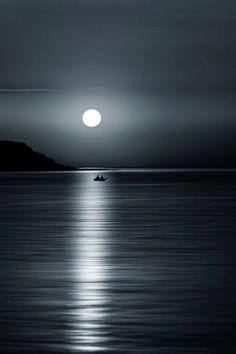 Serenity by Vaios Moraitis Beautiful Nature Wallpaper, Beautiful Moon, Beautiful Landscapes, Moon Pictures, Nature Pictures, Pretty Pictures, Moonlight Photography, Moon Photography, Landscape Photography