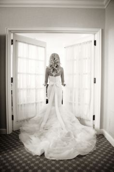 Ritz Carlton Wedding in Philadelphia. The bride selected a stunning Vera Wang gown to walk down the aisle. Vera Wang Wedding Gowns, Vera Wang Gowns, Wedding Suits, Wedding Attire, Wedding Dresses, Wedding Music, Wedding Day, Wedding Stuff, White Rose Bouquet