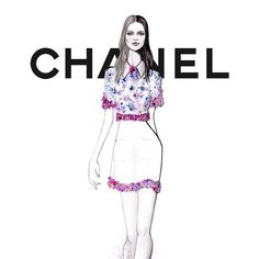 «CLOSE UP #Chanel SPRING 2015 #PFW by #GRACIANOfashionillustration»