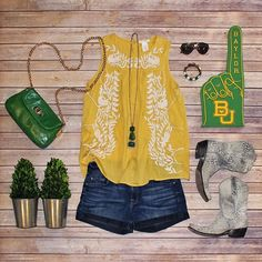 Perfect Baylor summer outfit. #SicEm