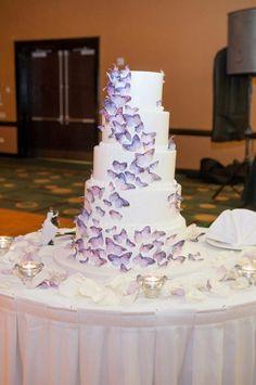 Butterfly wedding cake!