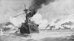 The Spanish cruiser Reina Cristina was shelled and sunk on May 1, 1898, during the Battle of Manila Bay by USS Baltimore, USS Boston and USS Olympia (all United States Navy) with the loss of about half her complement. Survivors were rescued by the Spanish navy vessels Isla de Cuba and Isla de Luzon.