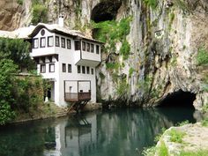 Blagaj Tekke Monastery, Bosnia Herzegovina photo on Sunsurfer Beautiful World, Beautiful Places, Amazing Places, Amazing Photos, Simply Beautiful, Beautiful Homes, Oh The Places You'll Go, Places To Visit, Water House