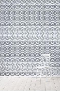 Wallpaper by ellos Rachel-tapetti, harmaa