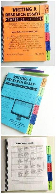 Research writing portfolio for upper middle and high school English!