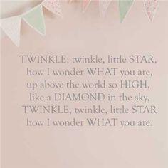 Twinkle Twinkle Little Star wall decoration, Great Little Trading Co